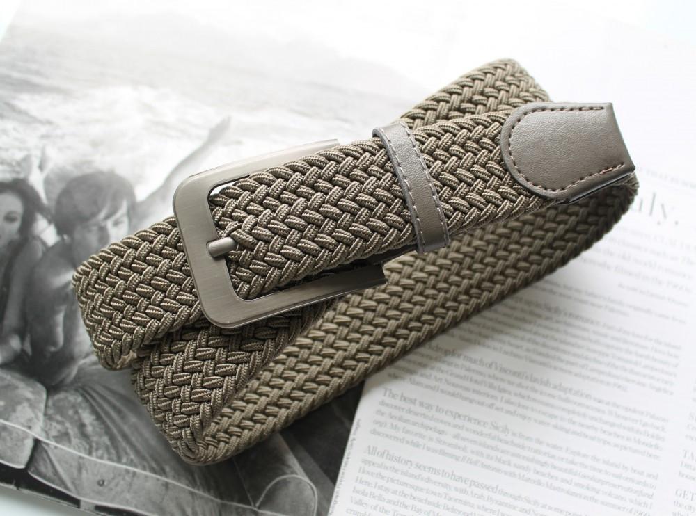 Плетений ремінь гумка унісекс хакі