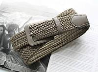 Плетений ремінь гумка унісекс хакі, фото 1
