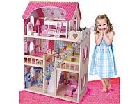 Игрушечный деревянный дом для больших кукол