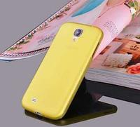 Мягкий ультратонкий (0,3 мм) пластиковый желтый чехол для Samsung Galaxy S4