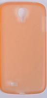Мягкий ультратонкий (0,3 мм) пластиковый оранжевый чехол для Samsung Galaxy S4