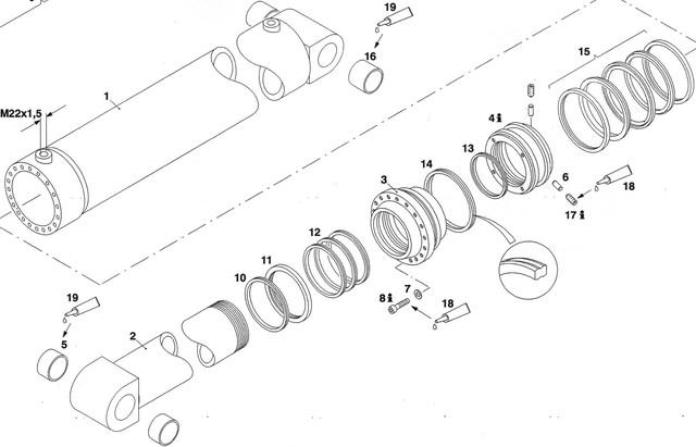 Гидроцилиндры стрелы Автобетононасоса