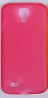 Мягкий ультратонкий (0,3 мм) пластиковый розовый чехол для Samsung Galaxy S4