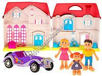 Игрушечный домик с мебелью, автомобилем  и 3-мя куклами ZA1217