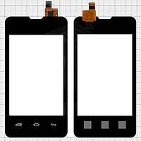 Сенсорный экран для мобильного телефона Explay A351, черный