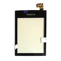 Тачскрин (сенсор) Nokia Asha 300 черный