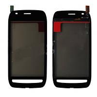 Тачскрин (сенсор) Nokia Lumia 710 с рамкой черный