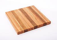 Кухонная разделочная доска классическая из ясеня 30х30х3 см