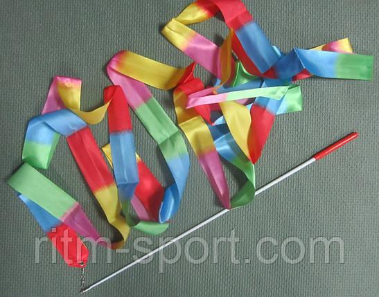 Гимнастическая лента радуга (6 м), фото 2