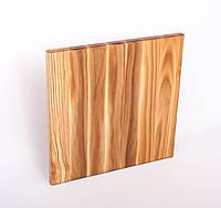 Кухонная разделочная доска классическая из ясеня 30х30х2 см, фото 1