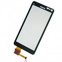 Тачскрин (сенсор) Nokia N8-00 черный