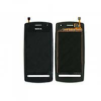 Тачскрин (сенсор) Nokia 600 с рамкой черный