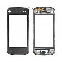 Тачскрин (сенсор) Nokia N97 с рамкой черный