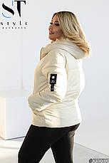 Куртка жіноча демісезонна розміри 48-62, фото 2