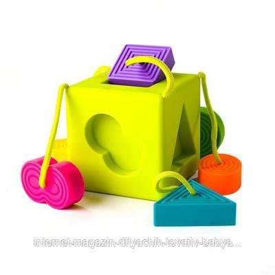 Сортер-прорезыватель тактильный Fat Brain Toys OombeeCube  (F120ML)