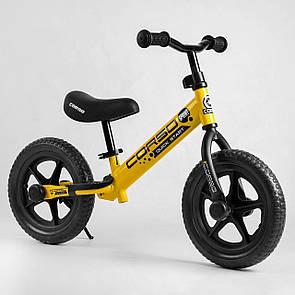 """Велобіг від Corso 09911 сталева рама, колесо 12"""" EVA (ПІНА)"""