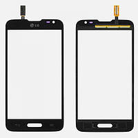 Тачскрин (сенсор) LG D373 Optimus L80 Blanco черный