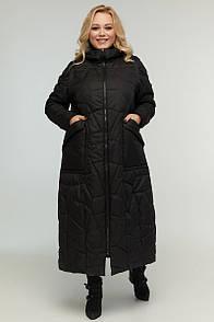 Жіноче пальто-пуховик трансформер в жилетку 48-72 розмір