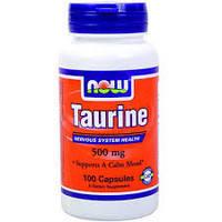 Таурин 100 капс  500 мг профилактика и  лечение сахарного  диабета    NOW Foods USA