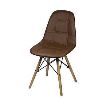 Мягкий стул Джастин  кожзам на деревянных ножках бук