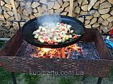 Мангал сковорода из диска бороны для пикника жарки (БЕЗ НОЖОК И РУЧЕК) 50 см. ДБ-002, фото 2