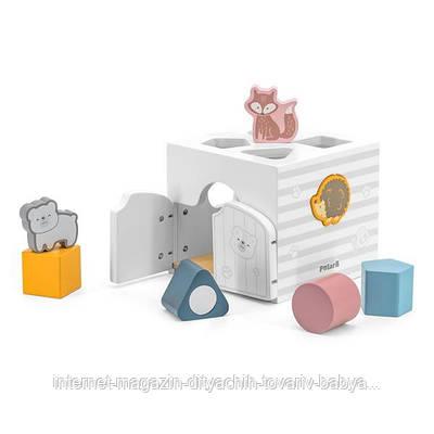 Деревянный сортер с погремушками Viga Toys PolarB Домик для зверят (44052)