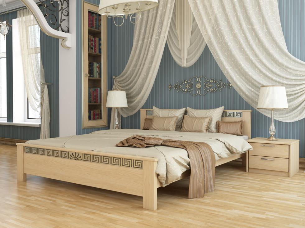 Кровать из дерева Афина из массива