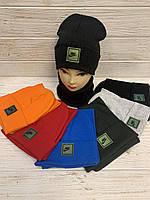 Комплект шапка і шарф для хлпчиків, 54-56 см. Опт
