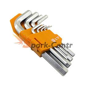 Набір Г-образних шестигранних ключів LT HEX 9шт (1,5-10 мм) в пластиковій кліпсі