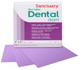 Кофердам без латекса (Non Latex Dental Dam), пурпурный с ароматом мяты, средний (medium) 0,25 мм, 15 шт.