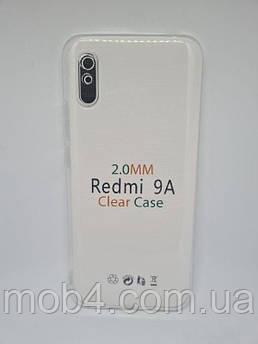 Прозрачный силиконовый чехол 2 мм. для Xiaomi Redmi 9A