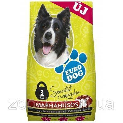EuroDog ЕвроДог сухий корм для собак зі смаком яловичини 10 кг