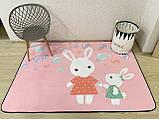 Бесплатная доставка! С небольшим дефектом!Ковер в детскую «Бабл гам» утепленный коврик мат (1.5*2 м), фото 2