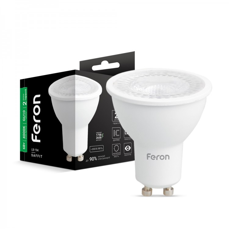 Светодиодная лампа Feron LB-196 7W GU10 4000K