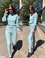 Модный прогулочный костюм женский теплый машинная вязка из кашемира штаны и кофта р-ры 42-46 арт 005