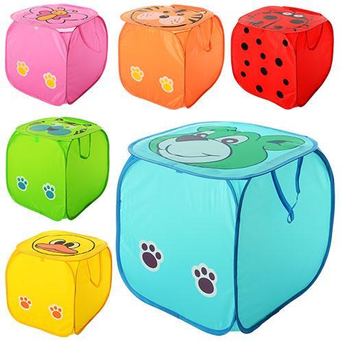 Кошик для іграшок M 2508 (50шт) тварина, висота45см, кришка-липучка, ручки, 6від, в кульку, 45-45см