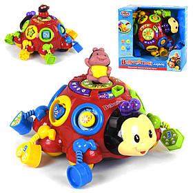 Інтерактивна розвиваюча іграшка «Жук» Play Smart 0957 (каталка, сортер, мелодії, вірші, що світиться)