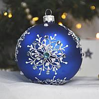 """Новогодняя ёлочная игрушка 80 мм """"Снежные кристаллы"""""""