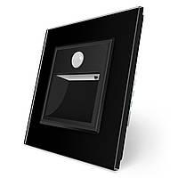 Светильник для лестниц подсветка пола с датчиком движения черный стекло Livolo (722800512), фото 1