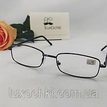 +0.75 Готові чоловічі окуляри для зору в чорній металевій оправі