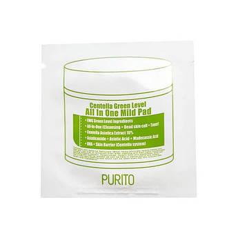 Пилинг-диски PURITO Centella Green Level All In One Mild Pad 2 шт 4,5 г