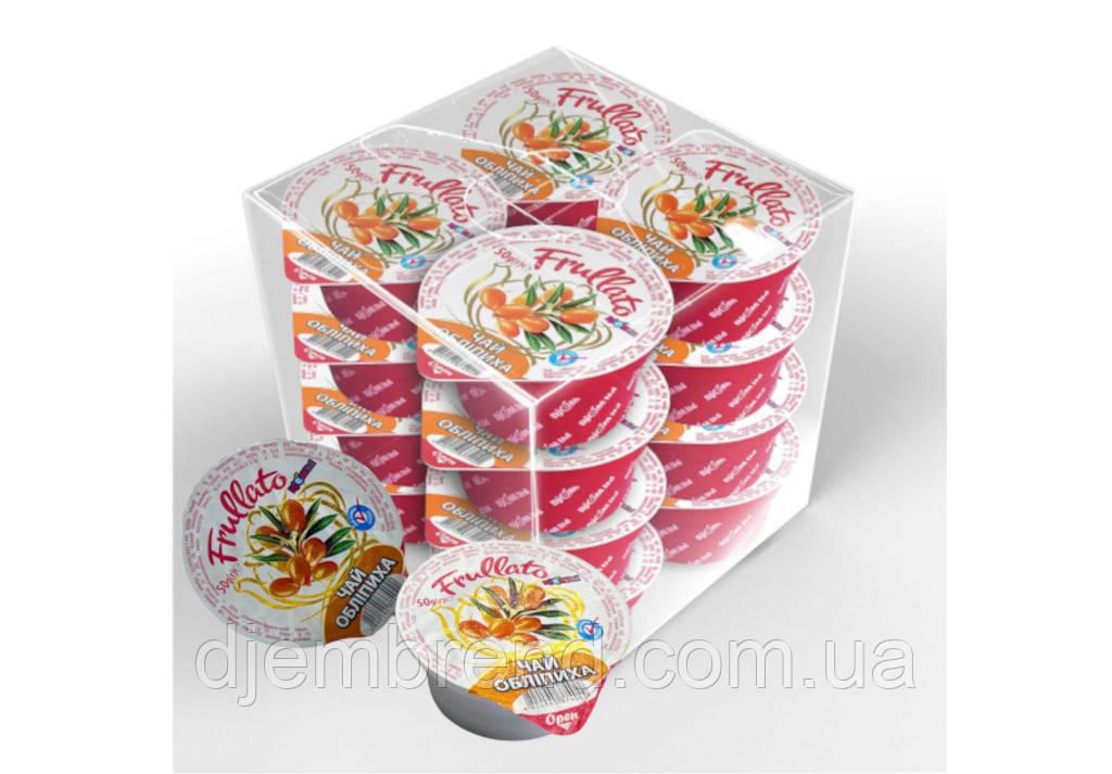 Натуральный ягодный живой чай Облепиха TM Frullato в стаканчиках 50 гр. 20шт./уп.