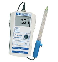 Профессиональный PH-метр Milwaukee MW101 - SOL(0.01pH) (почва, молочные продукты, мясо, жидкие среды),США