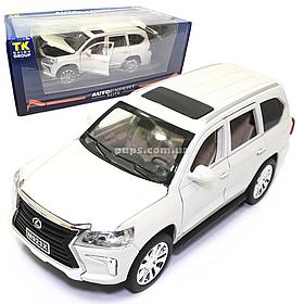 Машинка металлическая Lexus «АвтоЭксперт» Лексус джип белый свет звук 19*7*9 см (EL-9218)
