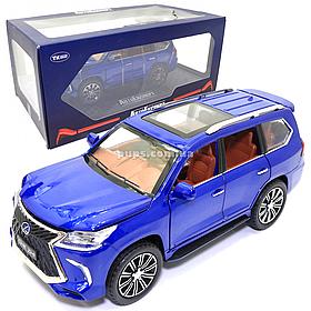 Машинка металлическая Lexus «АвтоЭксперт» Лексус джип синий звук свет 20*8*9 см (GT-8288)