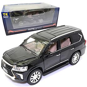 Машинка металлическая Lexus «AutoExpert» Лексус джип черный свет звук 19*7*9 см (EL-9218)