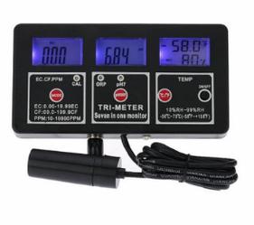 Стационарный комбинированный монитор РН-218 pH, ORP, EC, TDS, Temp, RH- метр  для аквариума