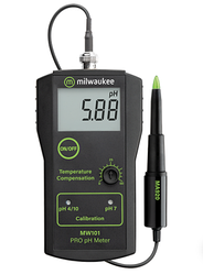 Профессиональный PH-метр Milwaukee MW101 - BEV (0.02pH) (мясо, фрукты, овощи, сыр, жидкие среды),США