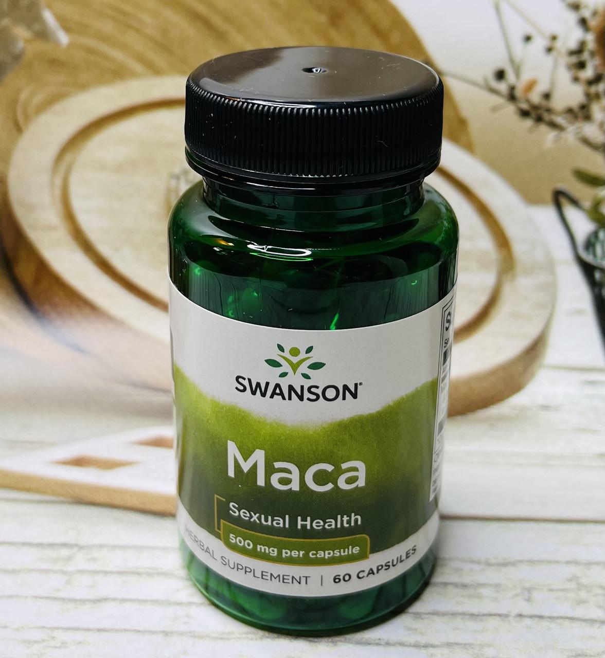 Капсули для сексуального здоров'я чоловіків і жінок Swanson Maca