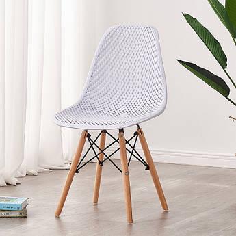 Стул обеденный пластик Микс мебель Сота ножки бук, белый